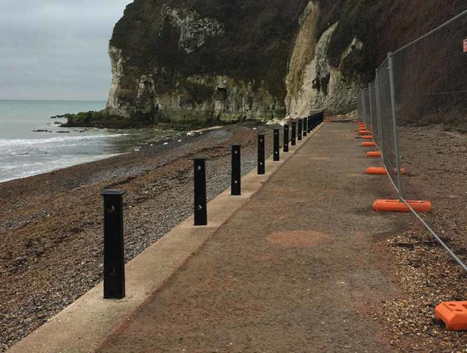 TJC Engineering project - St Margarets Bay for Dover District Council during shot